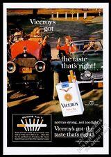 1963 Triumph TR4 Stutz Bearcat photo Viceroy cigarettes vintage print ad