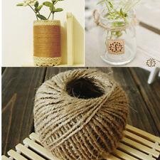 HOT 1 Roll 30M Brown Sisal Rustic String Cord Jute Hessian Twine Craft Craft DIY