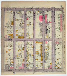 Original 1922 Map of Midwood Brooklyn NY Aves K L & M from Ocean Pkwy to E 12th