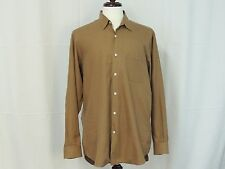 Ralph Lauren Purple Label brown cotton shirt size L EUC
