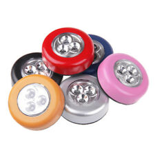 3 LED Wall Light Kitchen Cabinet Closet Lighting Sticker Tap Touch Lamp Bright