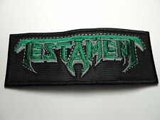 TESTAMENT  EMBROIDERED  PATCH