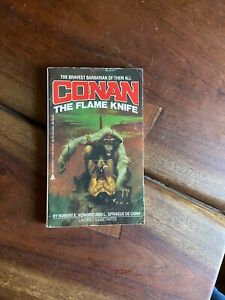Conan the Barbarian: The Flame Knife Robert E. Howard 1984 Paperback Illustrated