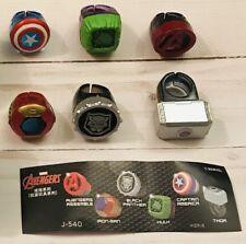 Marvel JAPAN Kids Complete Ring Set! Avengers Hulk/Thor/Iron/Panther/Captain