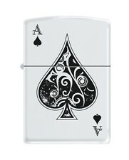 Zippo 9131, Ace of Spades, White Matte Finish, Full Size