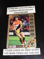 2013 TEAMCOACH GOLD CARD NO.29 PHIL DAVIS GREATER WESTERN SYDNEY GIANTS