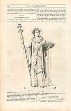Déesse de la fertilité Cérès Fresque à Pompéi Pompeii Italie Italia GRAVURE 1850
