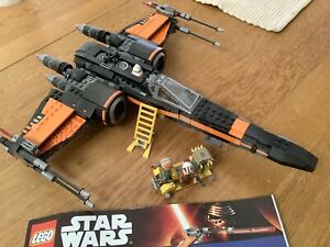 LEGO Star Wars Set 75102 Poe Dameron's X-Wing Fighter Force Awakens BB8 Complete
