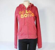 Billabong Signature Heather Red Hooded Sweat Jacket Hoodie Women's Small S NWT