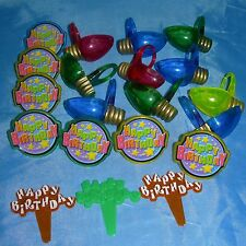20 HAPPY BIRTHDAY CUPCAKE Rings TOPPER Decorations CAKE Party