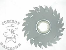 """Cowboy Cutter!! Niagara DS6082 Staggered tooth side mill 6"""" x 1/2"""" x 1-1/4"""" TiCN"""