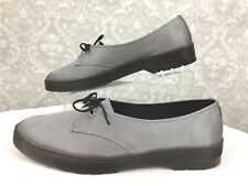 NWOB Dr Martens Womens Morada Size 11 Silver One Eye Lace Shoe