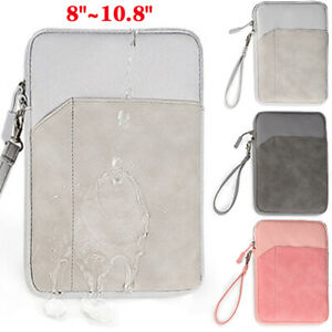 """For 8""""-10.8"""" Shockproof Padded iPad Tablet Sleeve Pouch Bag Case w/ Wrist Strap"""