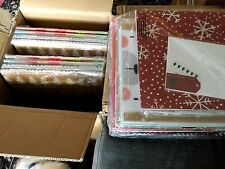 T75 NEW HUGE LOT Christmas Gift Boxes Shirt Size MIXED Designs Multi-Colored Set