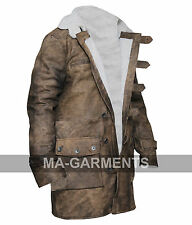 Dark Knight Rises Hooded Bane Crocodile Distressed Leather Jacket Long Coat