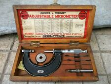 Vintage Moore Amp Wright Sheffield Ltd England Micrometer Quality Tool With Box
