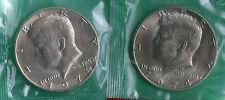 1974 P & D Kennedy Half Dollar Coin from US Mint Set 2 BU Cellos Cello Halves