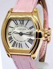 Cartier Roadster 18k Yellow Gold Silver Dial Ladies Quartz Strap Watch 2676