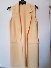 New Look Sunshine Yellow Blazer Style Long Summer Duster Jacket Size 10