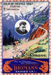 Brand new Cycling Poster: 1927 Tour de France Poster, Bicyclette Thomann