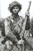 WW2 Photo Airborne US soldier trooper northern France 1944 WWII 420