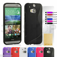 32nd S-line Design Silicone Gel Case Cover Suitable for HTC One M8 mobile phone