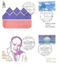 FDC - Venetia - 2 buste primo giorno - Lavoro Italiano - 1987