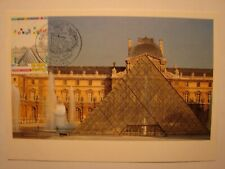 (FR143) LOUVRE MUSEUM PARIS 1989 FRANCE maximum maxi card postcard