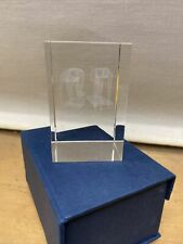 Glass Cube Trophy From Running IMP International Sports 8cm High 5cm Width & Dep