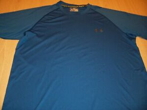 UNDER ARMOUR HEATGEAR BLUE ACTIVEWEAR SHIRT MENS LARGE EXCELLENT CONDITION