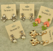 Forever 21 sunflower crystal flower stud drop jewelry earrings C LOT of 5