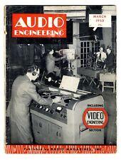 AUDIO ENGINEERING - MARCH 1950