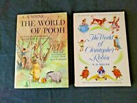 The World of Christopher Robin & World of Winnie the Pooh Milne Lot 2 Book PB