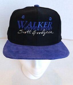 Vintage WALKER MOTORSPORT SCOTT GOODYEAR Cap Hat - Suede Brim - New w/o Tags!