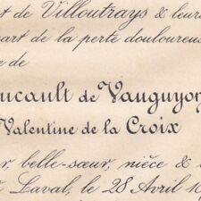 Marie Aimée Valentine De La Croix Henri Foucault De Vauguyon Laval 1878