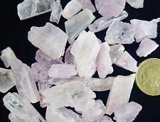 2 Rare Pink Kunzite Crystals Powerful Healing Gem Quality Chakra Peace Crystal