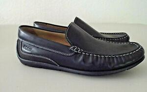 ***ECCO Men's Sz 42/8.5D leather comfort LOAFER black!!