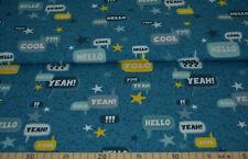 Baumwoll Jersey Yolo petrol Blaubeerstern Jersey für Jungs Statement-Stoff