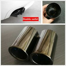 2Pcs Black Showing Metal Exhaust Muffler Pipe Tips Fit For BWM 3 、5 series 2019