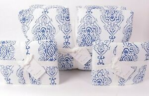Pottery Barn Blue Dessi organic cotton FQ comforter, 2 standard shams full queen