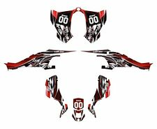 CAN AM DS 450 graphics ds450 sticker kit 2500 Red Fast Free Custom Service