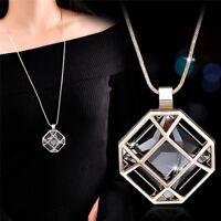 Charm Crystal Anhänger Halskette Bridal Statement Lange Halskette Pullover KeXUI