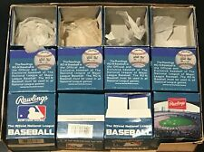 VINTAGE RAWLINGS NATIONAL LEAGUE 1990's ORIGINAL NL BASEBALL BOX LOT (12) BOXES