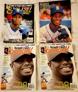 Lot of (8) Magazines with Ken Griffey Jr on front cover
