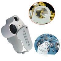 30X 60X Münze Schmuck Augenlupe Lupe Kunst Juweliere Diamantschleife Handwe T4W6