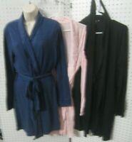 New Victoria Secret Light Wt Knit Robe Soft Cotton Pink, Bk, Bl  XS. S, M, L