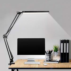 LED Desk Lamp, Metal Swing Arm Lamp, Adjustable Reading Light Eye-Care Table 3