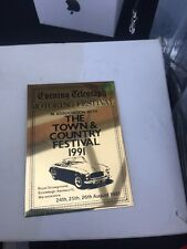 Stag Owners Club Town And Country Festival 1991 Soc Award Triumph Car