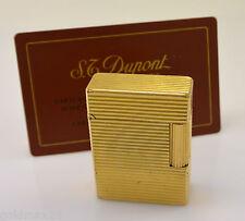 Feuerzeug - S.T. DUPONT - vergoldet / Damenfeuerzeug mit Hülle