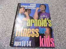 Arnold Schwarzenegger~Charles Gaines~SIGNED Arnold's Fitness for Kids 1st/1st